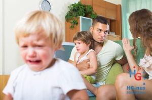 Huilend bij echtscheiding